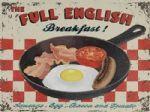 English Breakfast Vintage Style Tin Plaque Retro Metal Wall Sign Gift